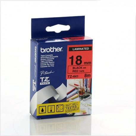 کاست برچسب لیبل پرینتر برادرTz-441 قرمز روی سفید Brother Tz-441 p touch Label Tape Red on white