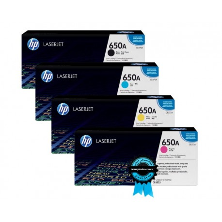 HP 650A Laserjet Toner Cartridges سری کیت کامل HP CP5525,M750